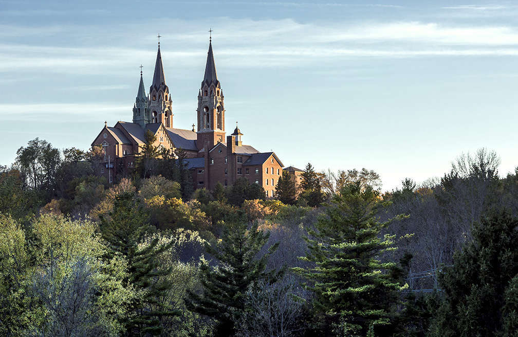 Holy Hill Cathedral from Highway View