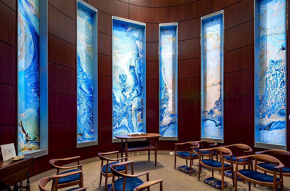 South View Glass Windows in Prayer Room Lake Forest Hospital