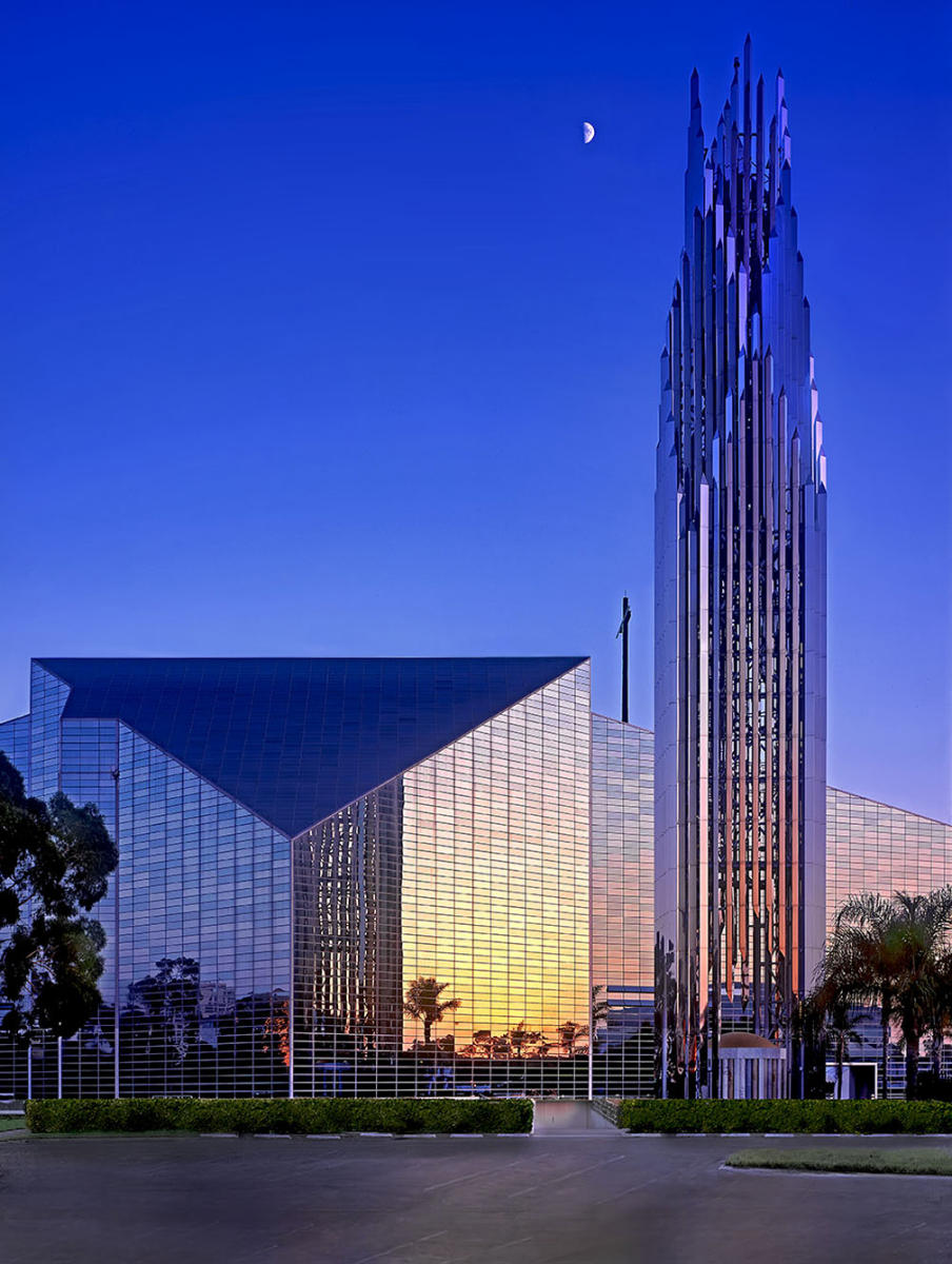 Architectural profile of Crystal Cathedral  Garden Grove, CA