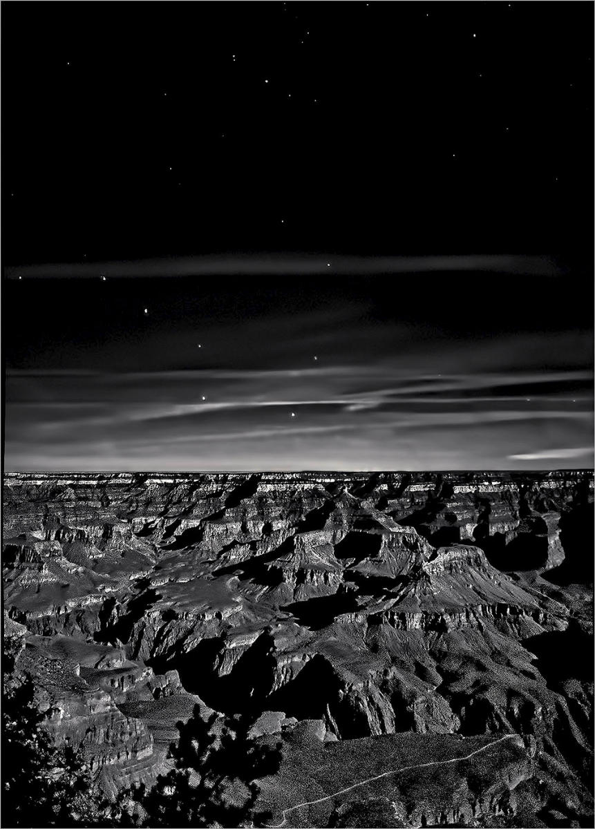 Grand Canyon Under a Harvest Moon