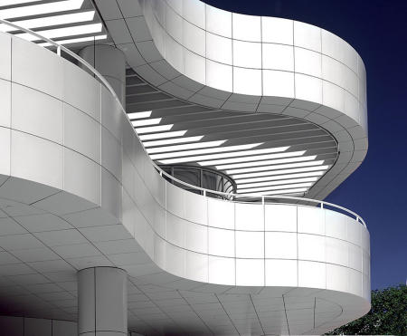 architectural profile Getty Center, Los Angeles, CA
