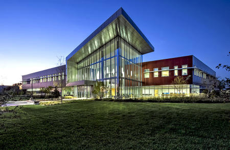 Evening image of Student Center Kishwaukee, College